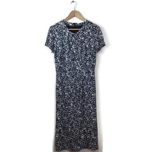 Hugo Boss Dress Black White Print Key Hole S
